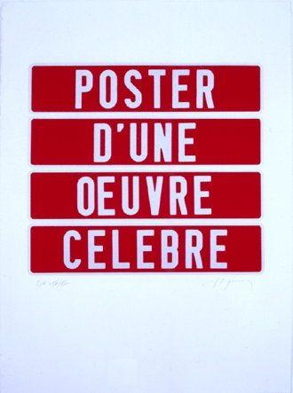 Serigrafía Ducorroy - Poster d'une oeuvre célèbre