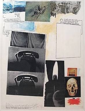 Serigrafía Rauschenberg - Poster for Peace