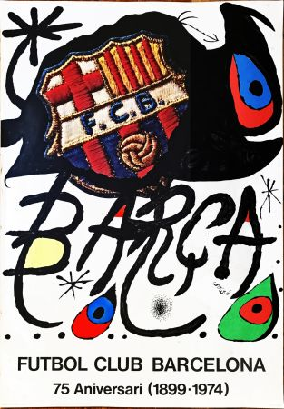 Sin Técnico Miró -  Poster for the 75th Anniversary of the Barcelona Football Club