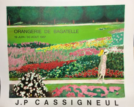 Litografía Cassigneul  - Poster for the exhibition at Orangerie de Bagatelle