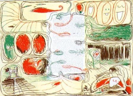 Litografía Alechinsky - Pour Claude Simon