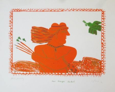 Litografía Fassianos - Pour Georges Rabol