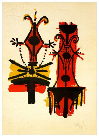 Litografía Lam - Pour Jorn