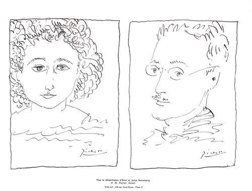 Litografía Picasso - Pour La Rehabilitation de Ethel et Julius Rosenberg  et de Morton Sobel