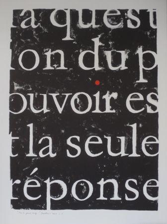 Litografía Alberola - Pour le point rouge