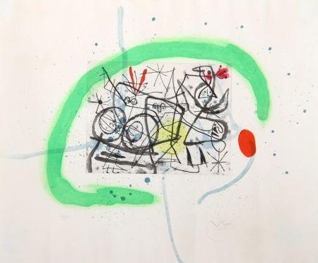 Aguatinta Miró - Preparatifs d'Oiseau IV