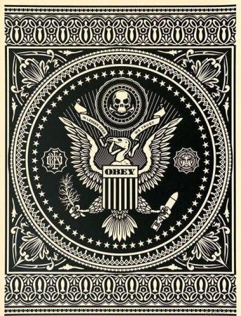 Serigrafía Fairey - Presidential Seal Black