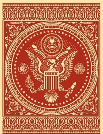 Serigrafía Fairey - Presidential Seal Red