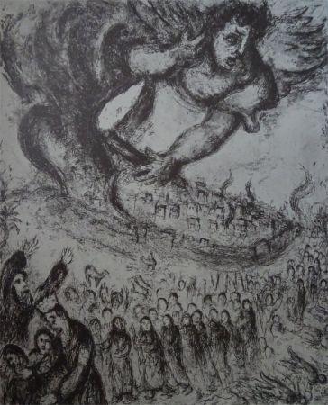 Aguafuerte Chagall - Prise de Jerusalem
