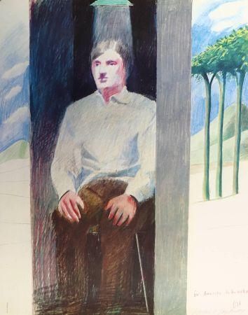 Litografía Hockney - Prisoner