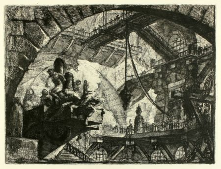 Grabado Piranesi - Prisoners On A Projecting Platform (No. 10 From