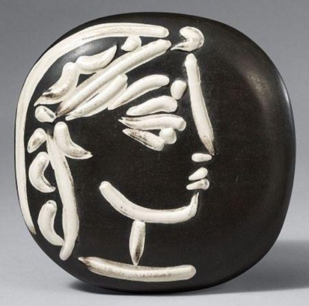 Cerámica Picasso - Profil de Jacqueline (Jacqueline's Profile)