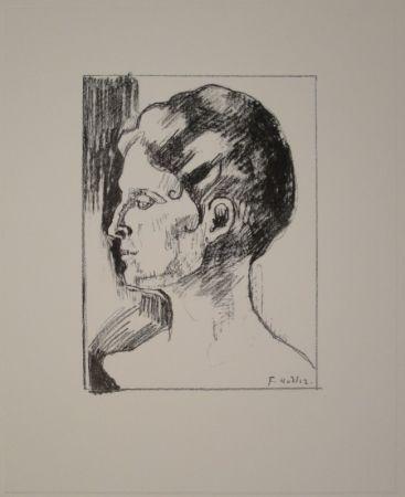 Litografía Hodler - Profilbildnis von Frau Hodler.