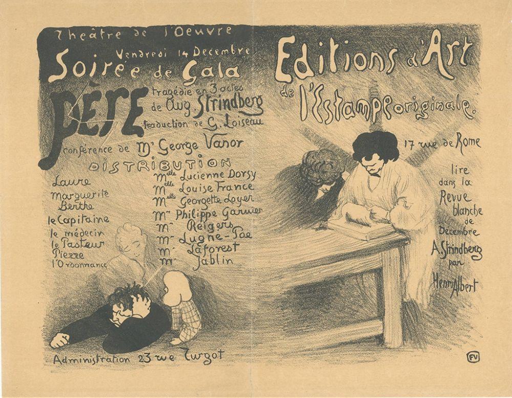 Litografía Vallotton - Programme pour