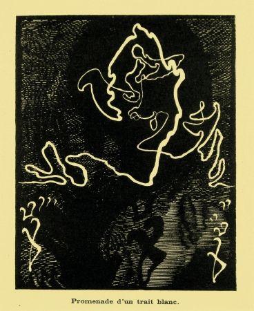 Grabado En Madera Kupka - Promenade d'un trait blanc