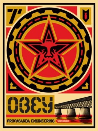 Serigrafía Fairey - Propaganda Engineering, Large Format