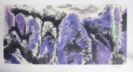 Litografía Po Chung - Prosperous purple