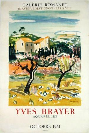 Litografía Brayer - Provence Galerie Romanet