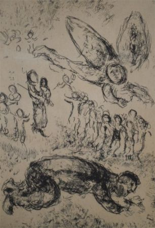 Aguafuerte Y Aguatinta Chagall - Psaumes de David, planche 13