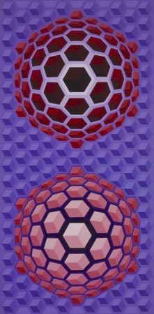 Múltiple Vasarely - Purple long