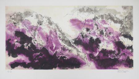 Litografía Po Chung - Purple mist