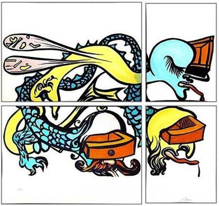 Litografía Dali - Puzzle of Life
