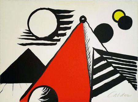 Litografía Calder - Pyramid Rouge