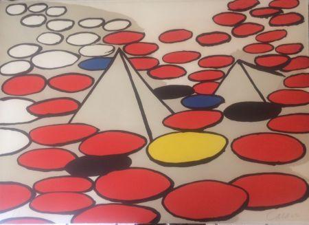 Litografía Calder - Pyramides