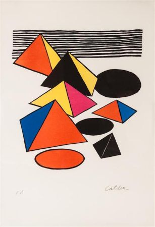 Litografía Calder - Pyramids And Circles