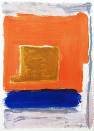 Grabado Ràfols Casamada - Quadrat i taronja