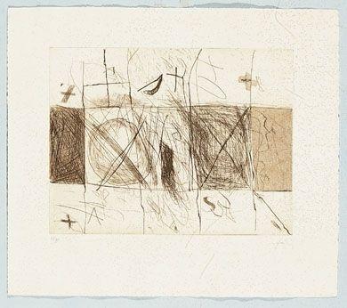 Grabado Tàpies - Quadrats i grafismes
