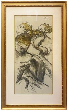 Colografía Degas - QUATRE BALLERINES (1898)
