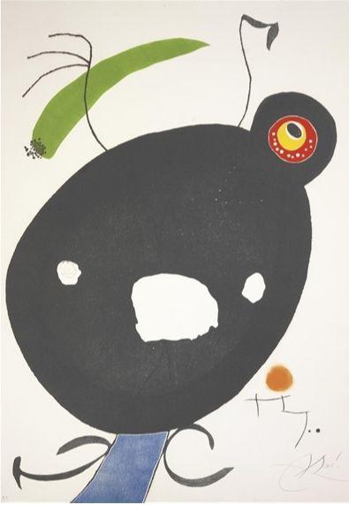 Aguafuerte Y Aguatinta Miró - Quatre Colors Aparien El Món, Plate Ii