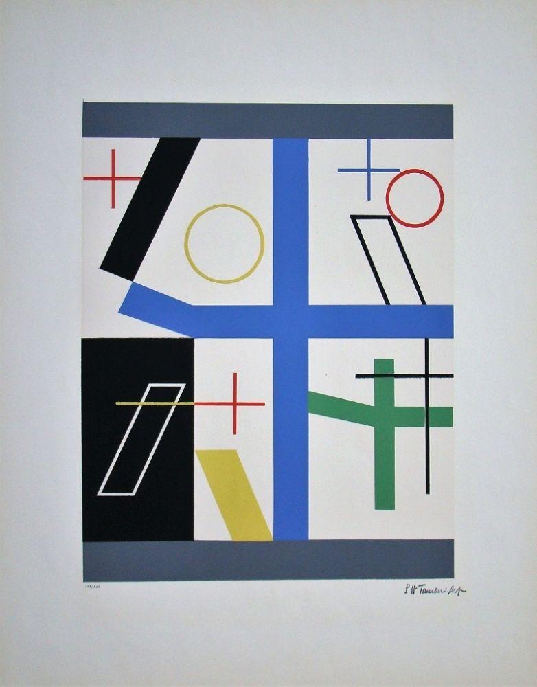 Serigrafía Taeuber-Arp - Quatre espaces à croix brisée