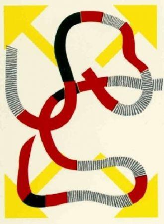Litografía Sugai - Quatre flèches