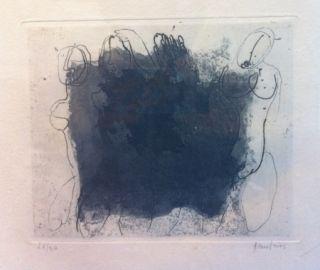 Aguafuerte Y Aguatinta Fautrier - Quatre nus violets