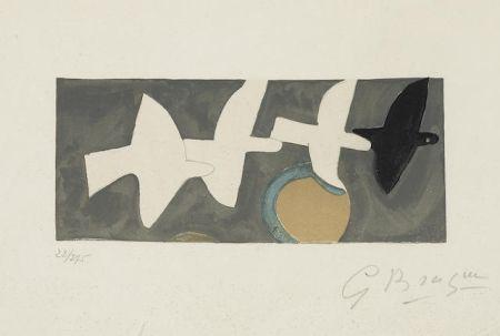 Litografía Braque - Quatre Oiseaux