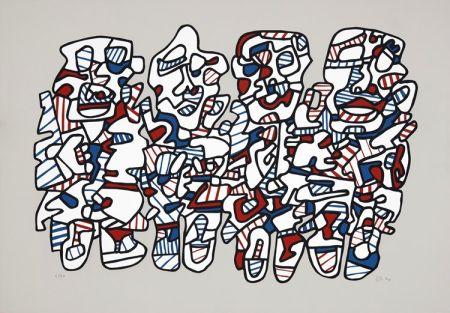 Serigrafía Dubuffet - Quatre personnages