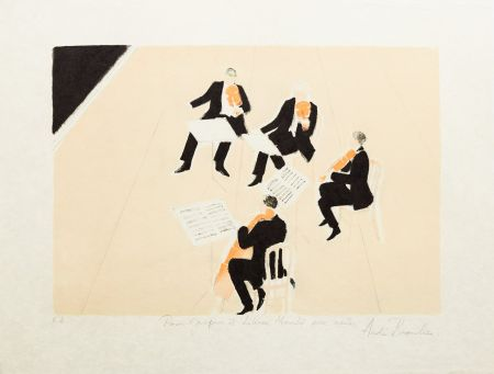 Litografía Brasilier - Quatuor