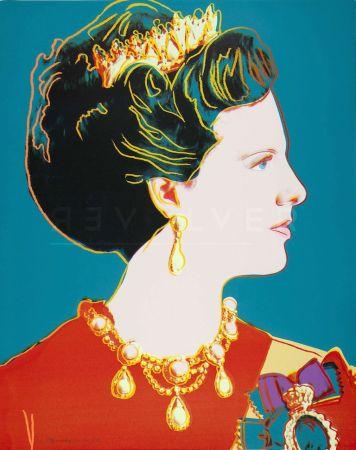 Serigrafía Warhol - Queen Margrethe Ii Of Denmark (Fs Ii.343)