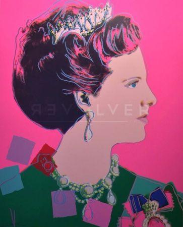 Serigrafía Warhol - Queen Margrethe II of Denmark (FS II.345)