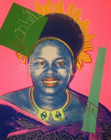 Serigrafía Warhol - Queen Ntombi Twala Of Swaziland Tp (Fs Iib.346)