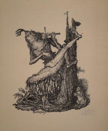 Litografía Kubin - Rübezahl II
