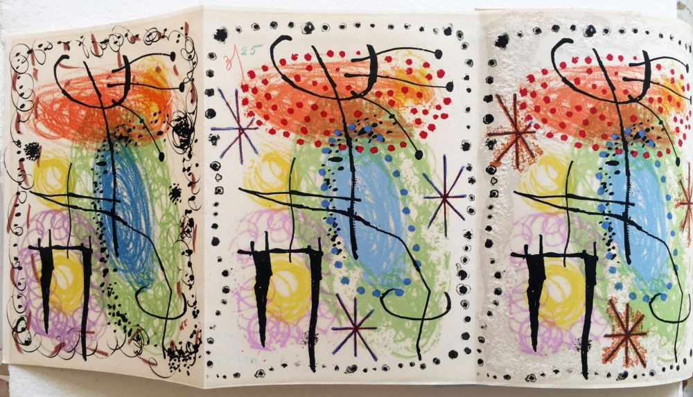 Libro Ilustrado Miró - R. Cazelles. LA RAME ET LA ROUE. Lithographie de Joan Miro signée et numérotée (1960)
