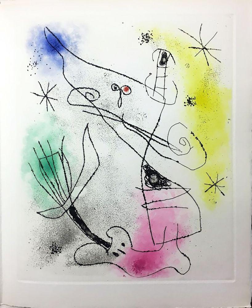 Libro Ilustrado Miró - R. Crevel : FEUILLES ÉPARSES (Avec 14 gravures de Arp, Giacometti, Ernst, Man Ray, Masson, etc.) 1965.