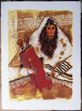 Litografía Tobiasse - Rabbin - Les Psaumes
