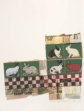 Serigrafía Rauschenberg - Rabbit Chow, from Chow Bags