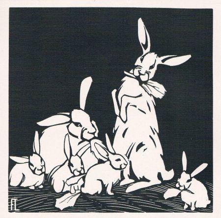 Grabado En Madera Lang - Rabbits