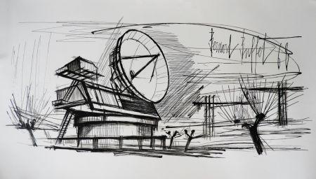Litografía Buffet - Radar Station, Siemens