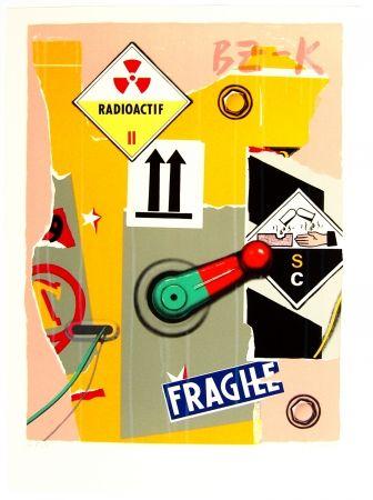 Litografía Klasen - Radioactif fragile